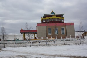Дворец сандалового Будды зимой